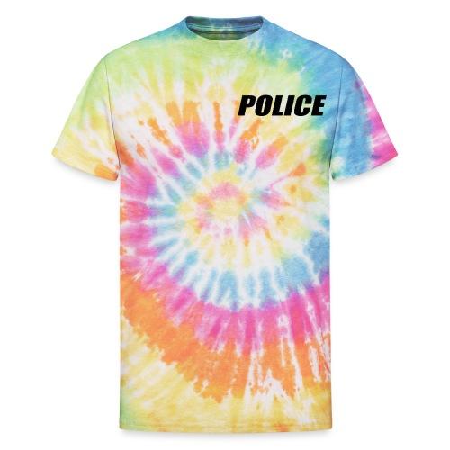Police Black - Unisex Tie Dye T-Shirt
