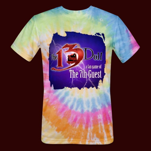 The 13th Doll Logo With Lightning - Unisex Tie Dye T-Shirt