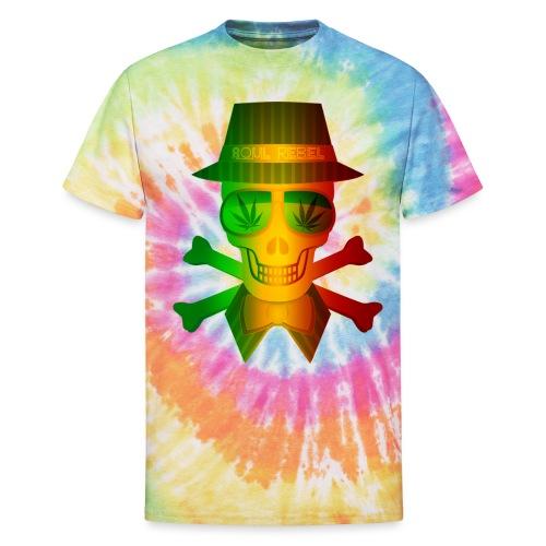 Rasta Man Rebel - Unisex Tie Dye T-Shirt