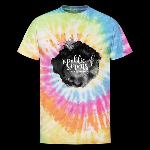 ROS FINE ARTS COMPANY - Black Aqua - Unisex Tie Dye T-Shirt