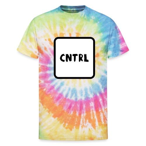 White CNTRL Logo - Unisex Tie Dye T-Shirt