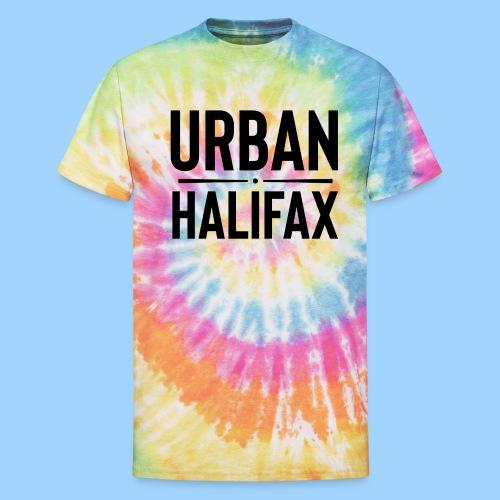 Urban Halifax logo (Black) - Unisex Tie Dye T-Shirt