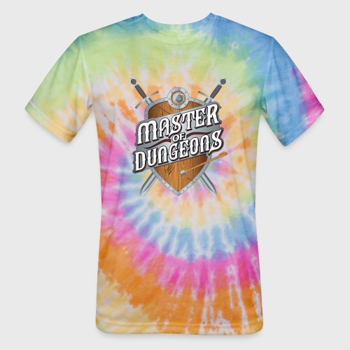 master of dungeons shield and swords fantasy gift - Unisex Tie Dye T-Shirt
