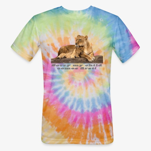 Lion-My child comes first - Unisex Tie Dye T-Shirt