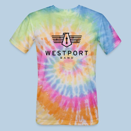 Westport Band Back on transparent - Unisex Tie Dye T-Shirt
