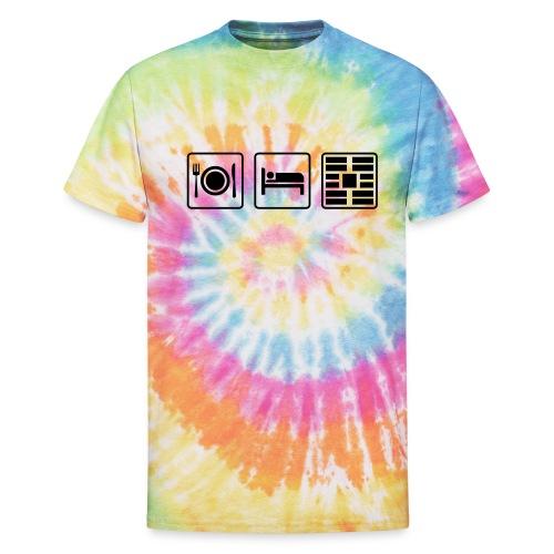 Eat Sleep Urb big fork - Unisex Tie Dye T-Shirt