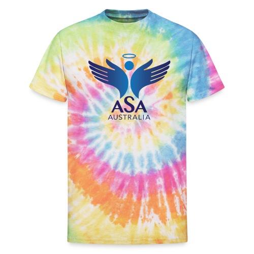 3459 Angelman Logo AUSTRALIA FA CMYK - Unisex Tie Dye T-Shirt