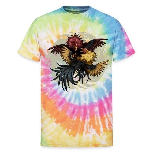 Ying Yang Gallos by Rollinlow - Unisex Tie Dye T-Shirt