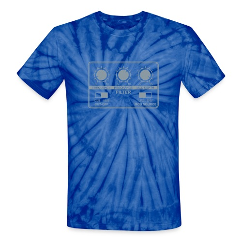Synth Filter with Knobs - Unisex Tie Dye T-Shirt