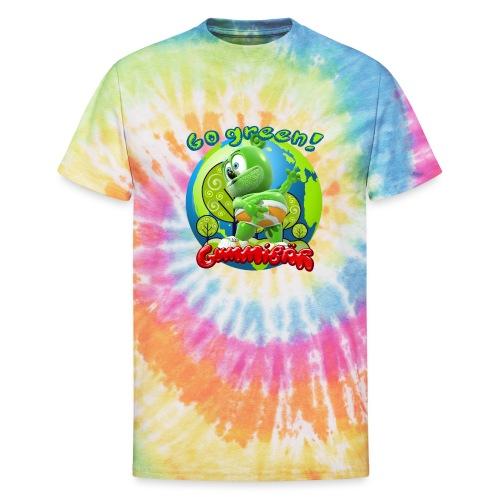 Gummibär Go Green Earth Day Earth - Unisex Tie Dye T-Shirt