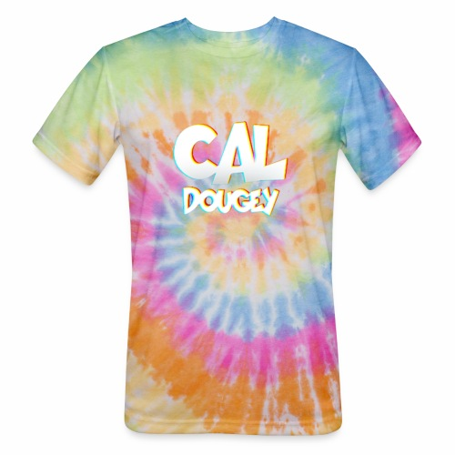 CAL DOUGEY TEXT - Unisex Tie Dye T-Shirt