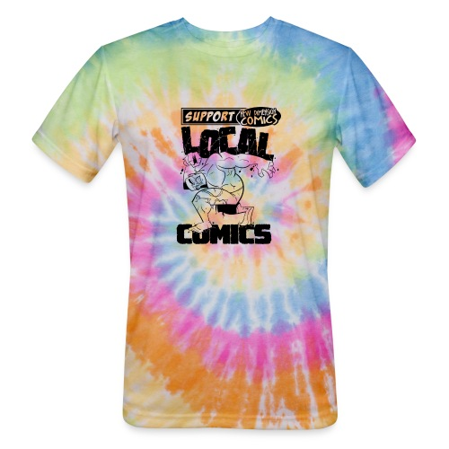 Support Local Comics NDC By Geoff Munn - Unisex Tie Dye T-Shirt