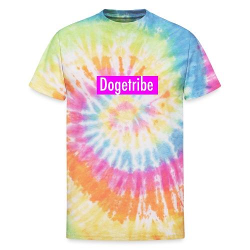 Dogetribe pink logo - Unisex Tie Dye T-Shirt