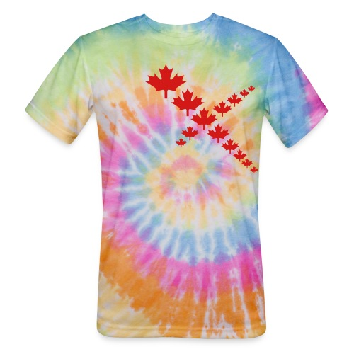 Maple Leafs Cross - Unisex Tie Dye T-Shirt