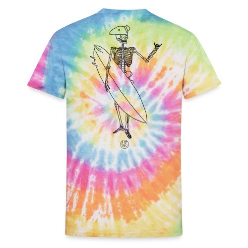Skelly surfer - Unisex Tie Dye T-Shirt