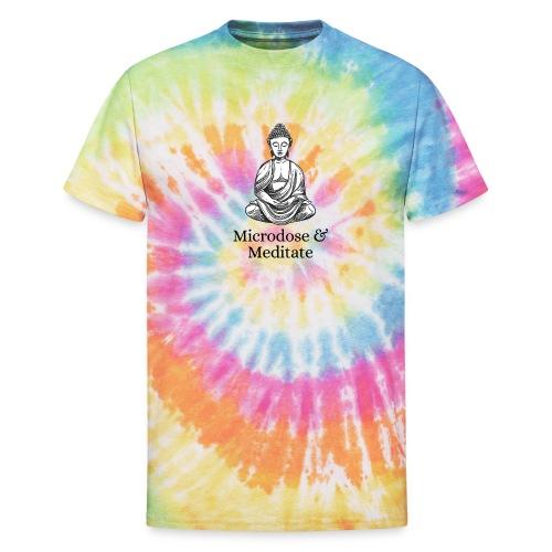 Microdose & Meditate (Buddha) - Unisex Tie Dye T-Shirt
