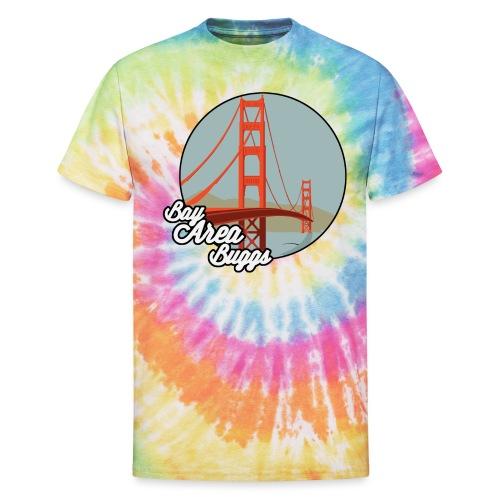 Bay Area Buggs Bridge Design - Unisex Tie Dye T-Shirt