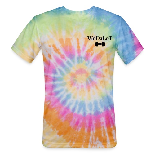 WoDaLoT black logo - Unisex Tie Dye T-Shirt