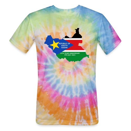 south sudan 10th years anniversary - Unisex Tie Dye T-Shirt