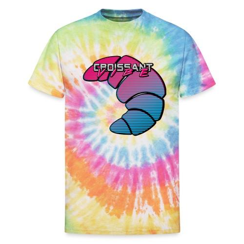Croissant Vibe - Unisex Tie Dye T-Shirt