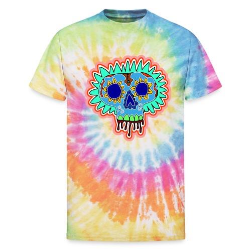 Hippy Día de Muertos - Unisex Tie Dye T-Shirt