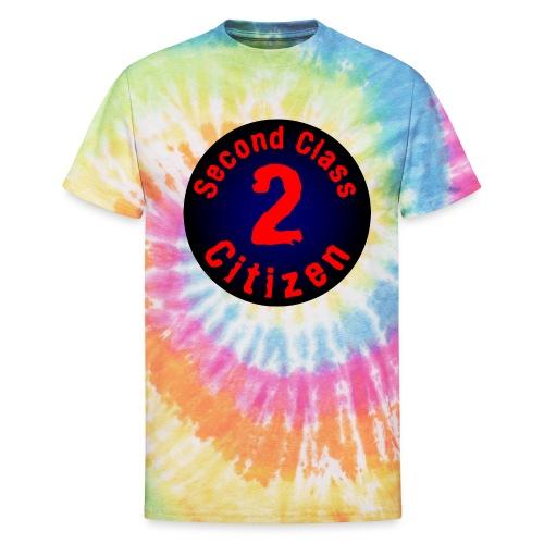 2nd Class Citizen Logo (Dark) - Unisex Tie Dye T-Shirt