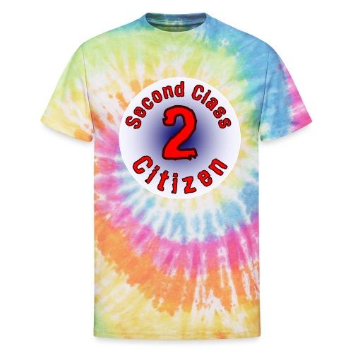 2nd Class Citizen Logo (Light) - Unisex Tie Dye T-Shirt