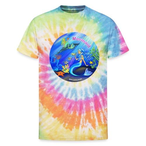 Mermaid print - Unisex Tie Dye T-Shirt
