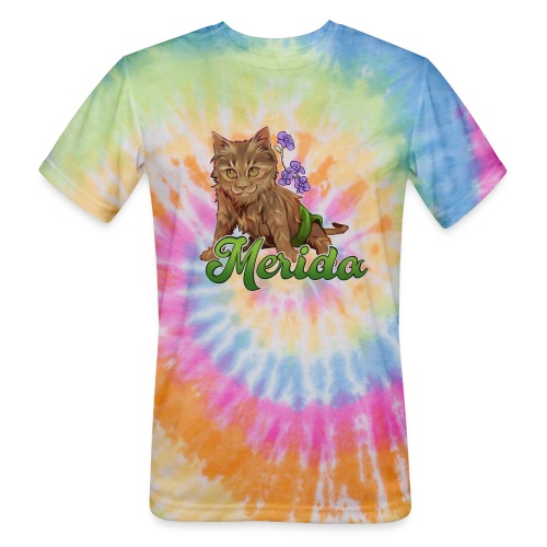 Merida Flowers - Unisex Tie Dye T-Shirt
