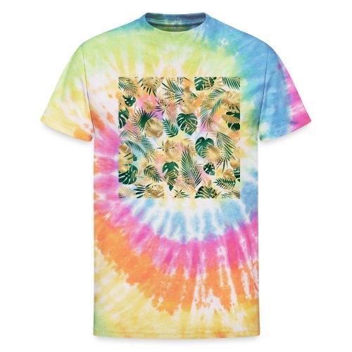 leaf overlay 1 - Unisex Tie Dye T-Shirt