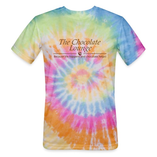 The Chocolate Lounge T shirt design 1 - Unisex Tie Dye T-Shirt