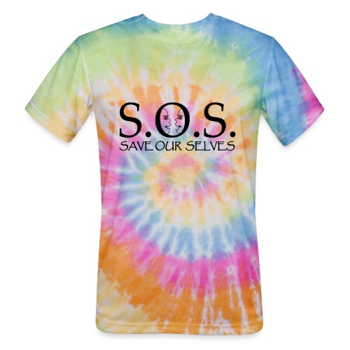 SOS Black on Black - Unisex Tie Dye T-Shirt