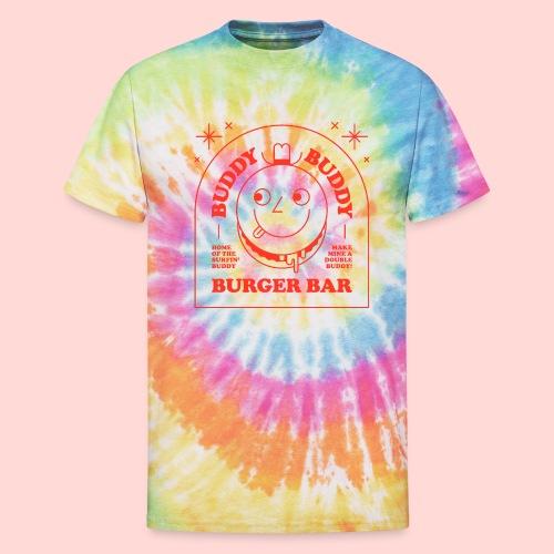 Buddy Buddy Burger Bar - Unisex Tie Dye T-Shirt