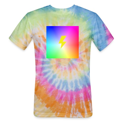 Rainbow lightning t-shirt - Unisex Tie Dye T-Shirt