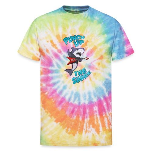 Punch up The Shark - Unisex Tie Dye T-Shirt