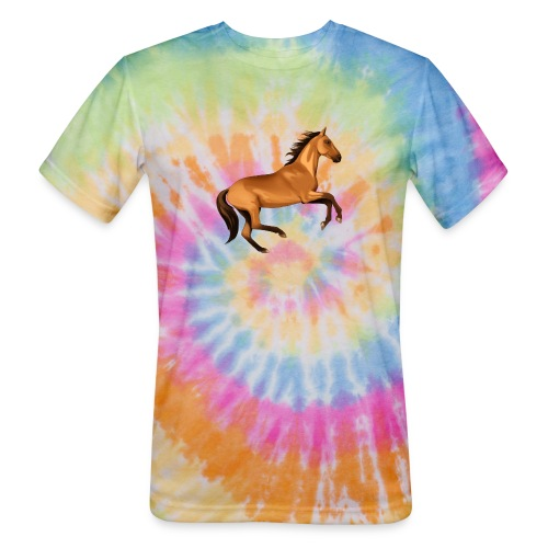 horse riding - Unisex Tie Dye T-Shirt