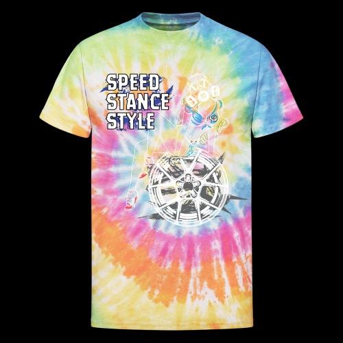 Gas Mask Girl Color - Unisex Tie Dye T-Shirt