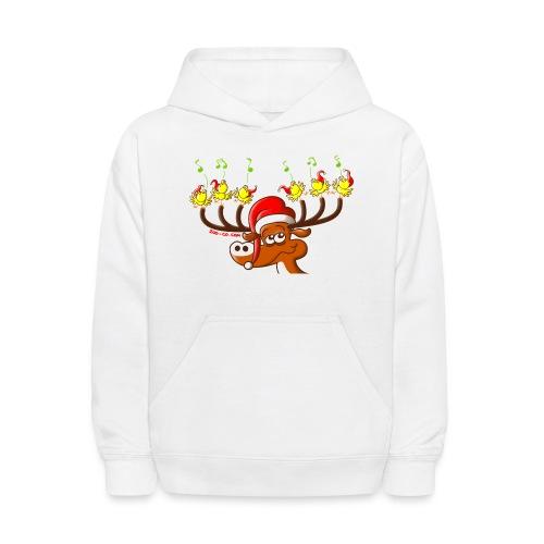 Birds' and Deer's Christmas Concert - Kids' Hoodie