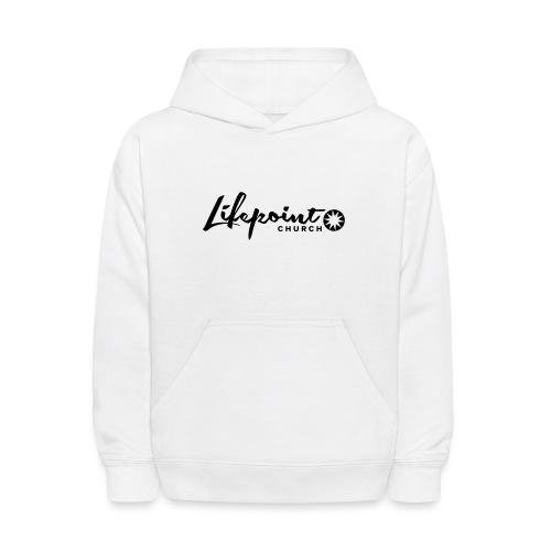 Logo Horizontal Black - Kids' Hoodie