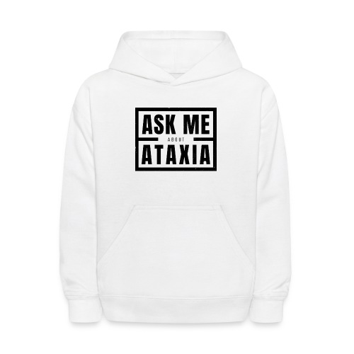 Ask Me About Ataxia Black - Kids' Hoodie