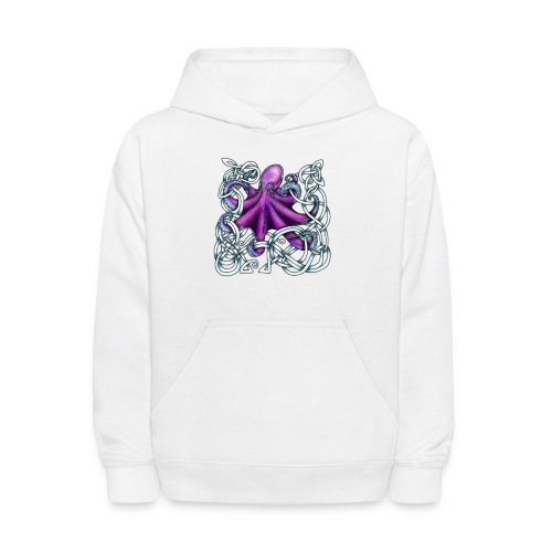 Celtic Octopus - Purple - Kids' Hoodie