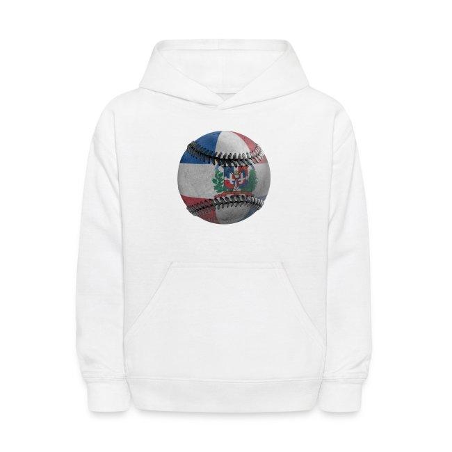 Dominican Republic text Black Kids Sweatshirt