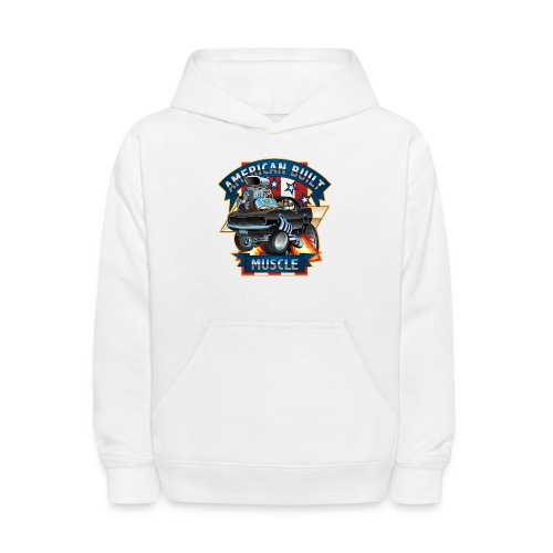 American Built Muscle - Classic Muscle Car Cartoon - Kids' Hoodie