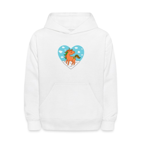 Unicorn Love - Kids' Hoodie