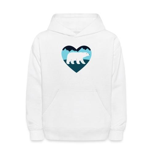 Polar Bear Love - Kids' Hoodie