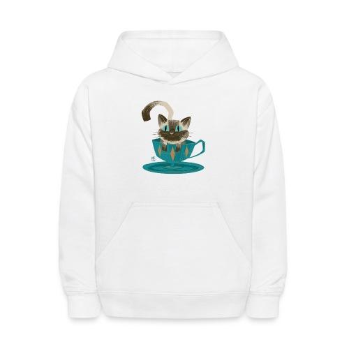 Cat in a Teacup by Kim B - Kids' Hoodie