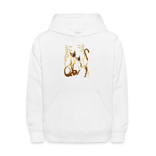 Two gold Siamese Kitties - Kids' Hoodie