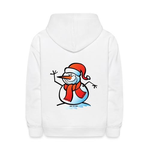 Grinning Snowman - Kids' Hoodie