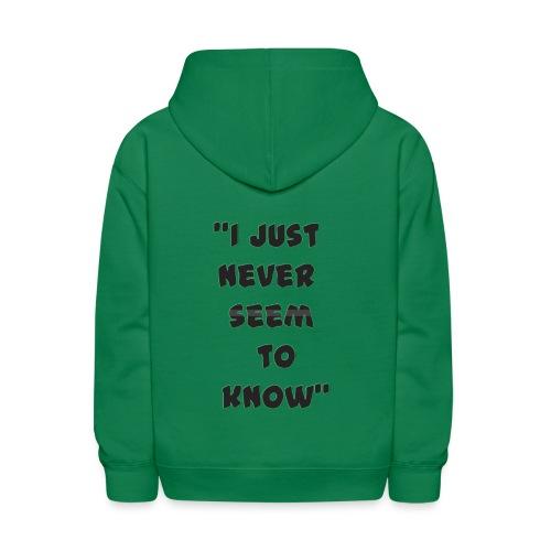 know png - Kids' Hoodie