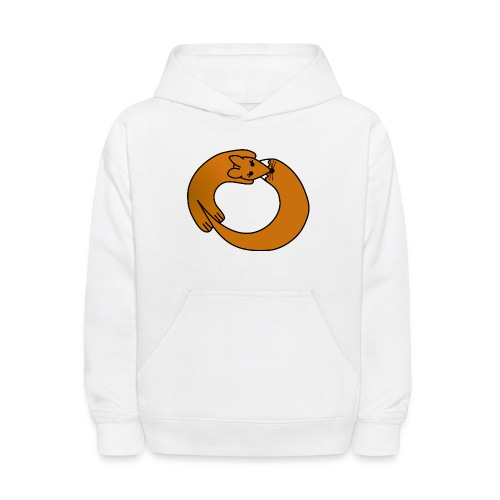 Fox Curled Up in a Circle - Kids' Hoodie